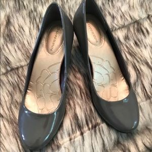 Grey Patent heels from Gianni B. Size 5.5